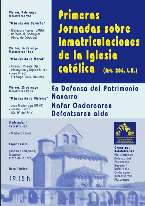 cartel jornada inmatriculaciones pamplona